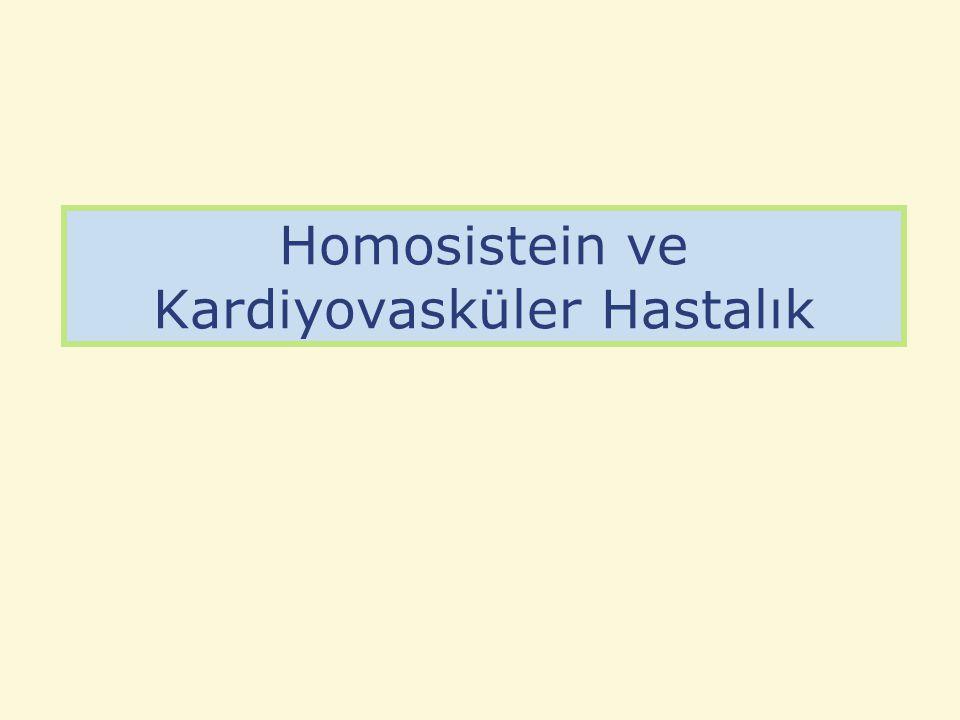 Homosistein ve Kardiyovasküler Hastalık
