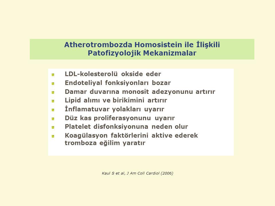 Atherotrombozda Homosistein ile İlişkili Patofizyolojik Mekanizmalar