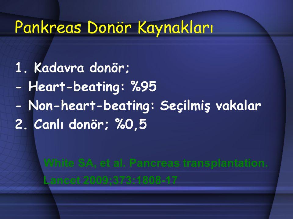 Pankreas Donör Kaynakları