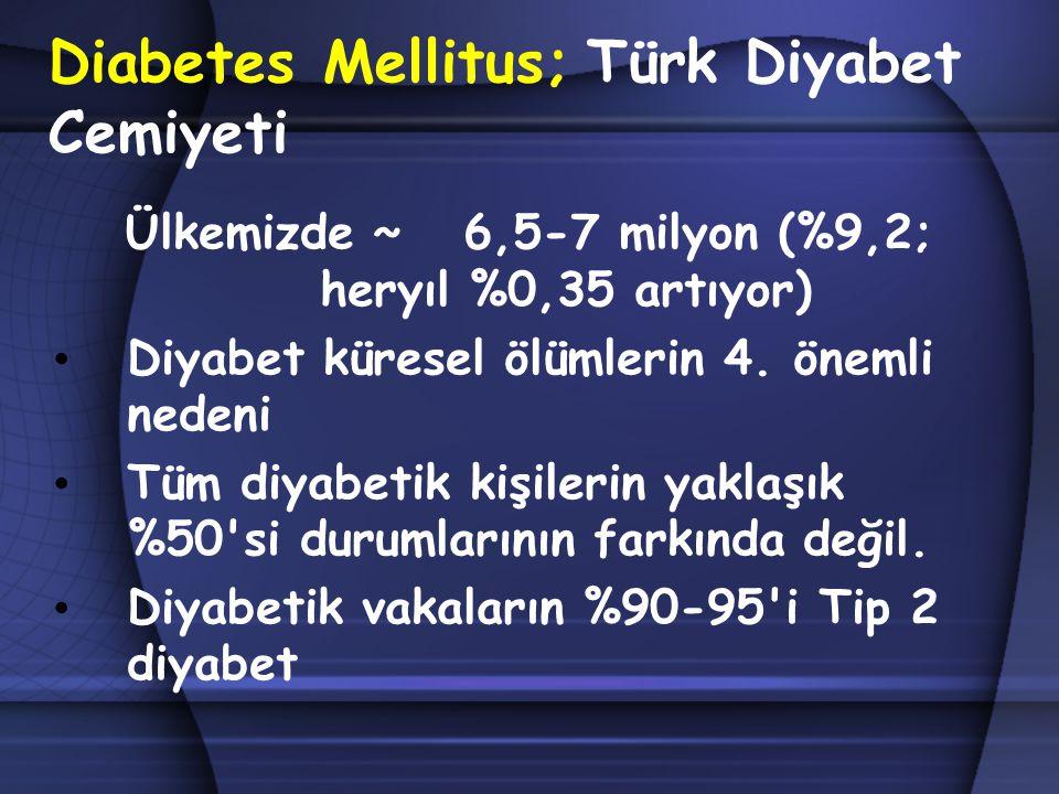 Diabetes Mellitus; Türk Diyabet Cemiyeti