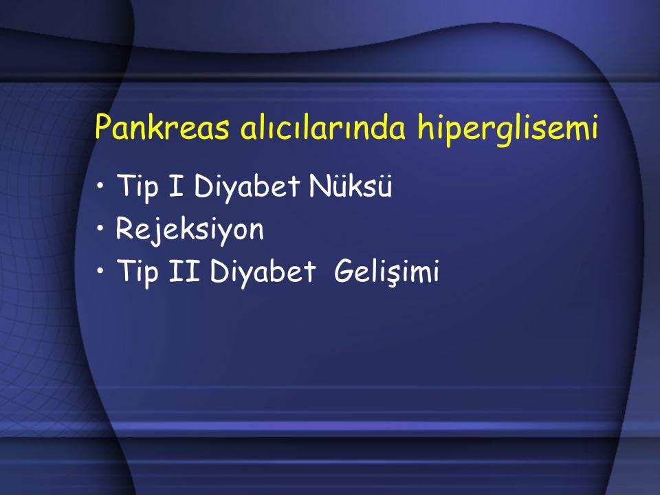 Pankreas alıcılarında hiperglisemi