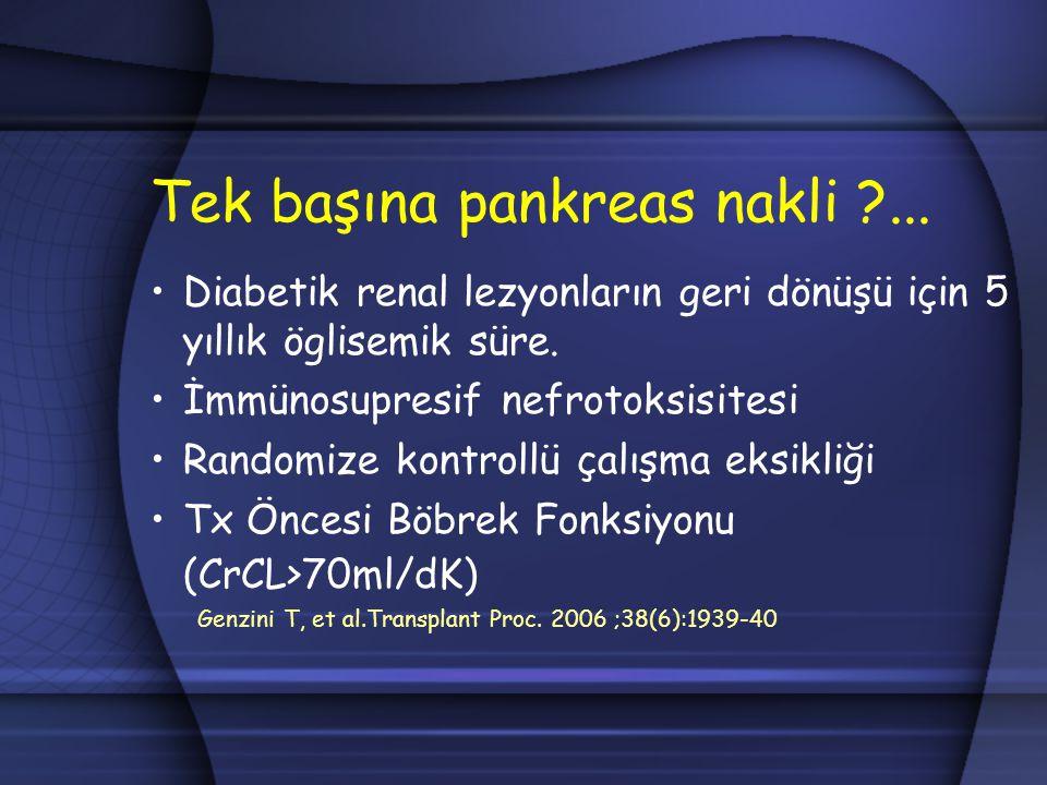 Tek başına pankreas nakli ...