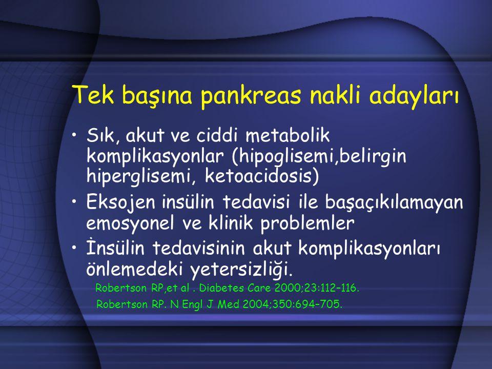Tek başına pankreas nakli adayları