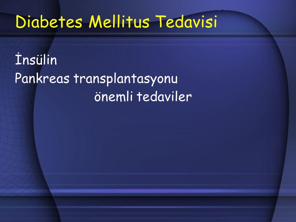 Diabetes Mellitus Tedavisi