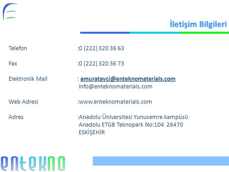 İletişim Bilgileri Telefon :0 (222) 320 36 63 Fax :0 (222) 320 36 73