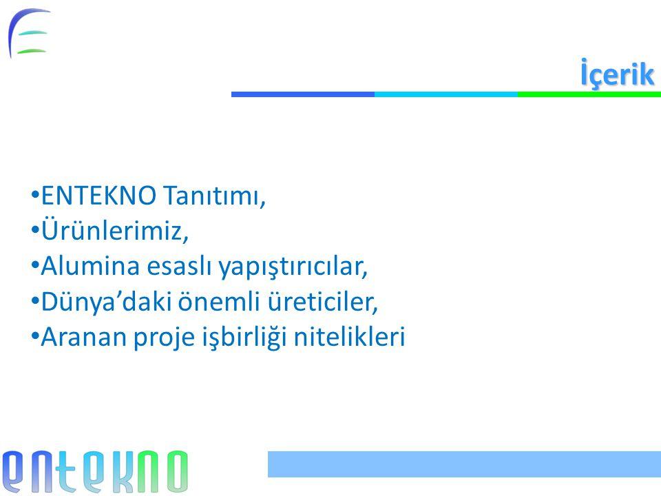 İçerik ENTEKNO Tanıtımı, Ürünlerimiz, Alumina esaslı yapıştırıcılar,