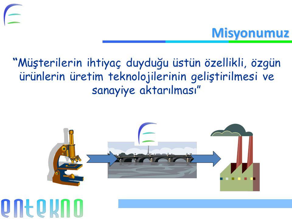 Misyonumuz Müşterilerin ihtiyaç duyduğu üstün özellikli, özgün ürünlerin üretim teknolojilerinin geliştirilmesi ve sanayiye aktarılması