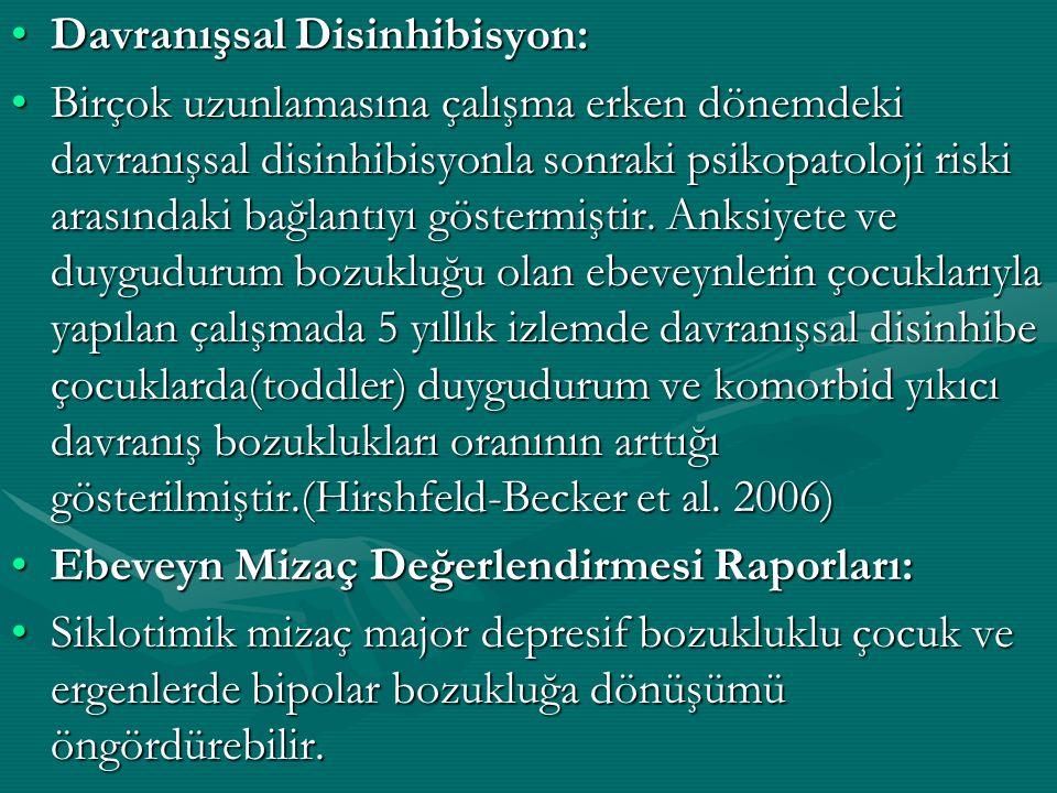 Davranışsal Disinhibisyon: