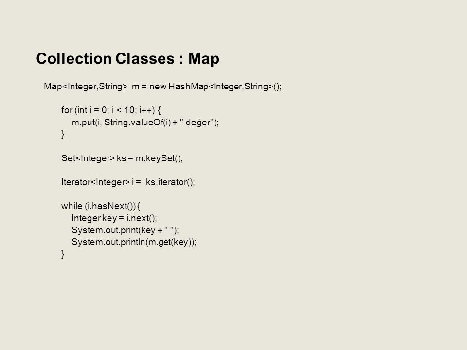 Collection Classes : Map