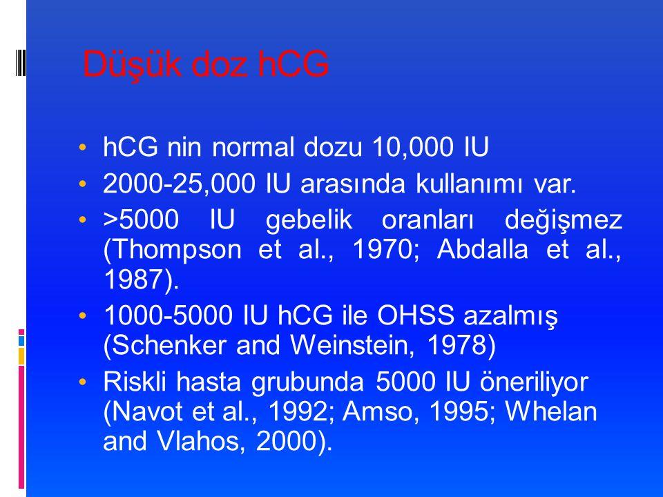 Düşük doz hCG hCG nin normal dozu 10,000 IU