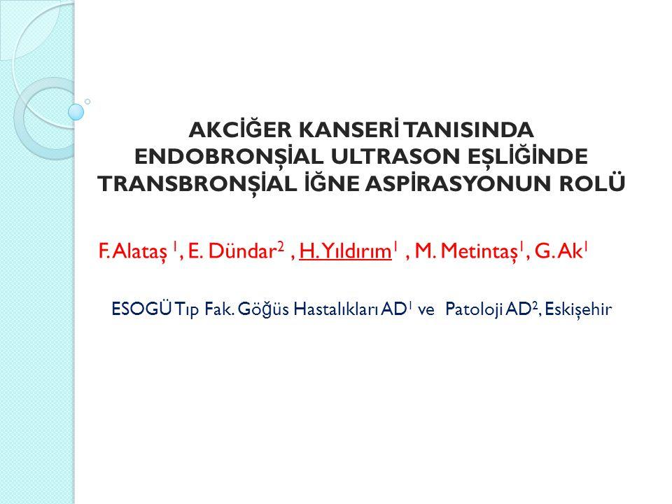 ESOGÜ Tıp Fak. Göğüs Hastalıkları AD1 ve Patoloji AD2, Eskişehir