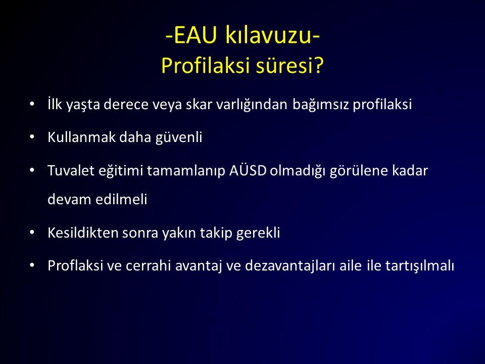 -EAU kılavuzu- Profilaksi süresi