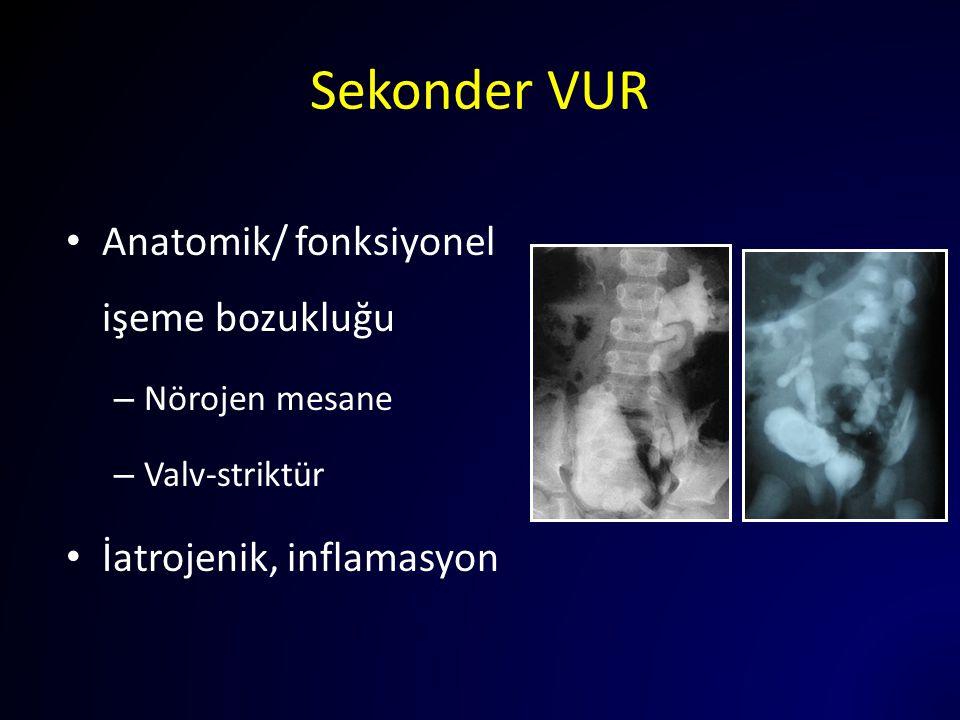 Sekonder VUR Anatomik/ fonksiyonel işeme bozukluğu