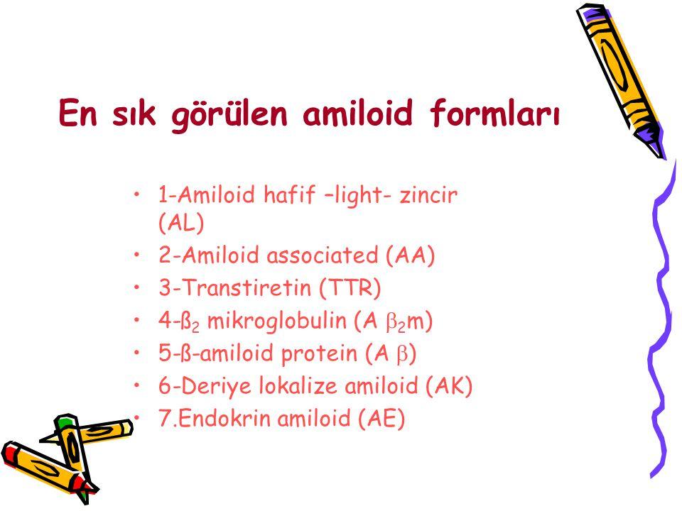 En sık görülen amiloid formları