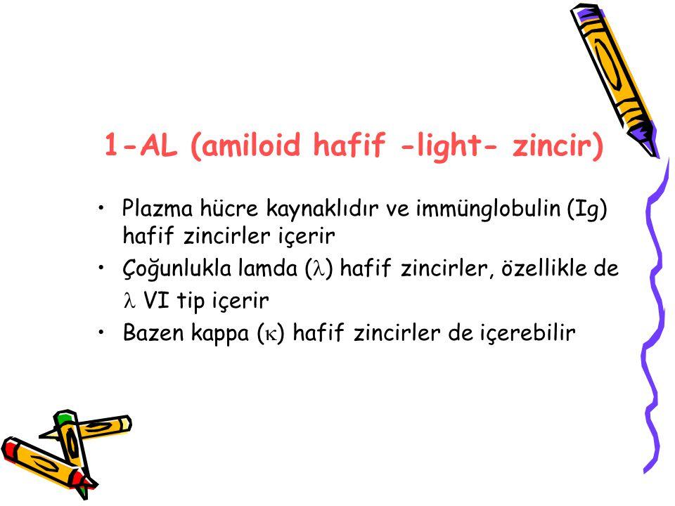 1-AL (amiloid hafif -light- zincir)