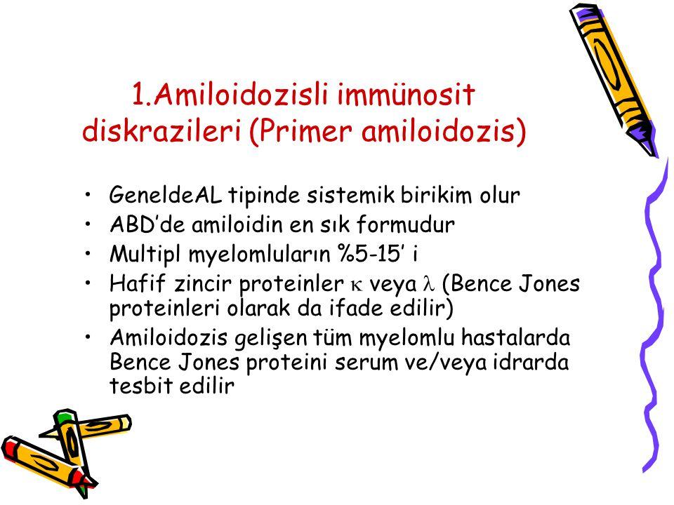1.Amiloidozisli immünosit diskrazileri (Primer amiloidozis)