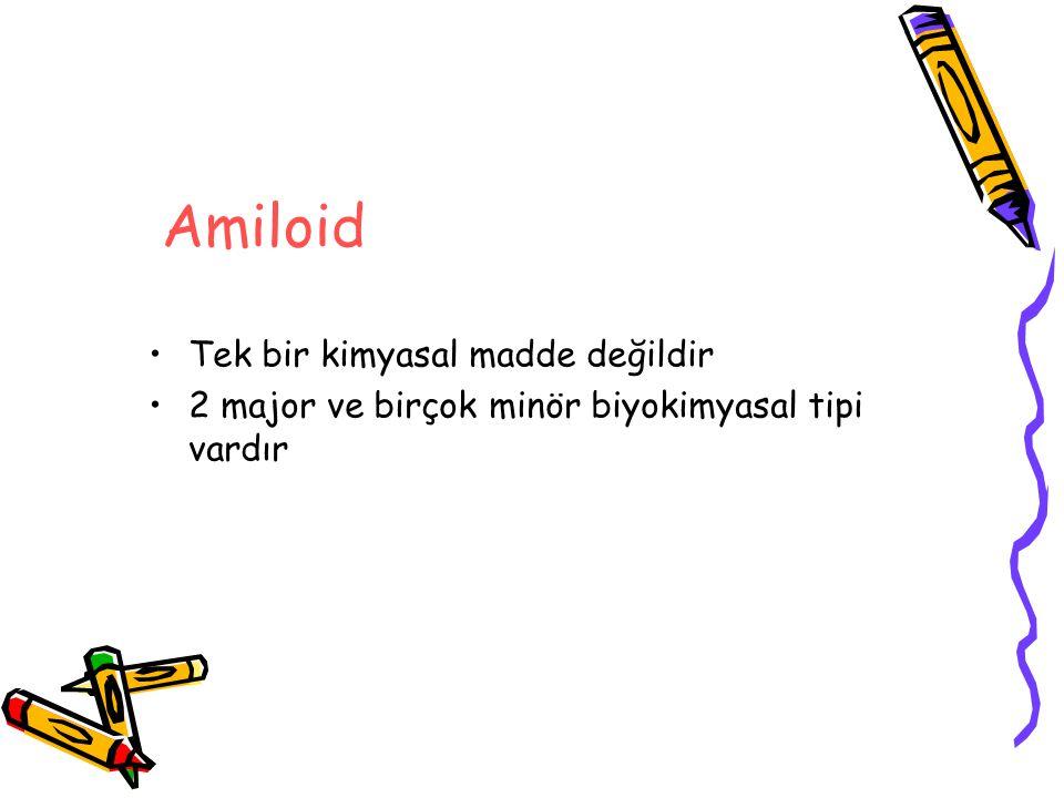 Amiloid Tek bir kimyasal madde değildir