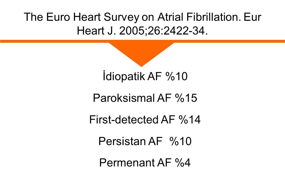 The Euro Heart Survey on Atrial Fibrillation. Eur Heart J
