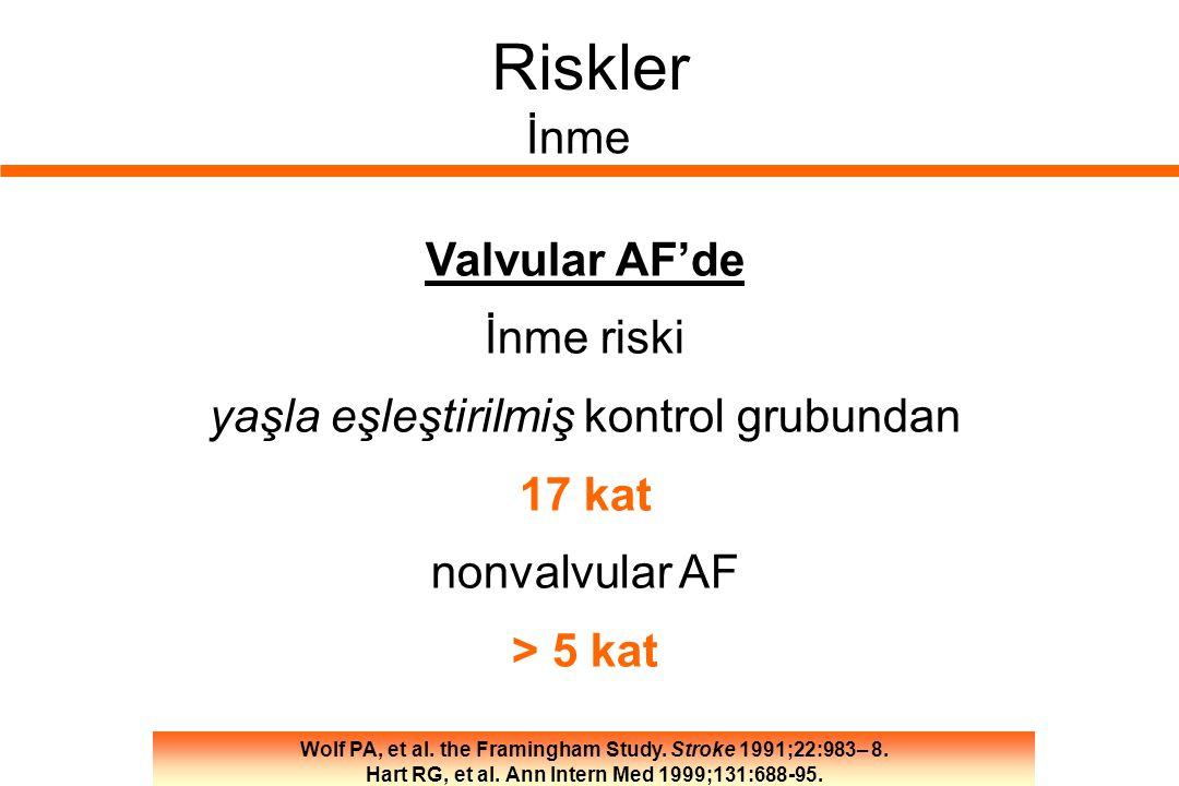 Riskler İnme Valvular AF'de İnme riski