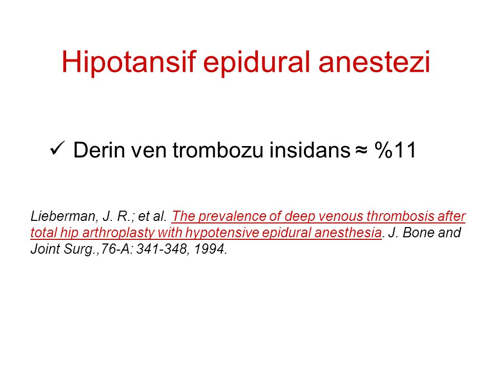 Hipotansif epidural anestezi