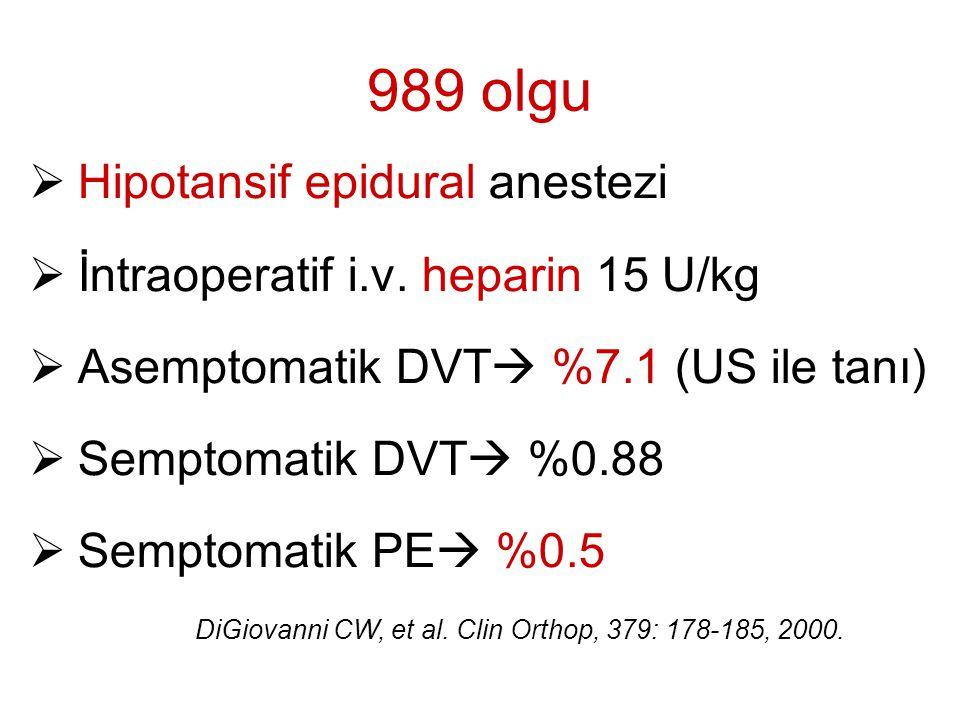 989 olgu Hipotansif epidural anestezi