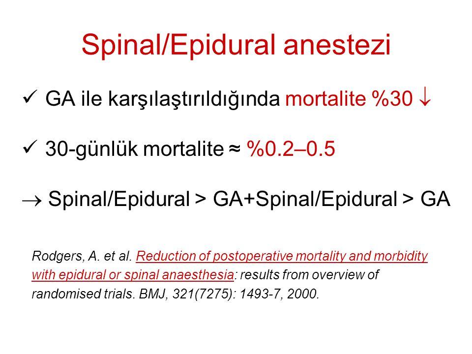 Spinal/Epidural anestezi