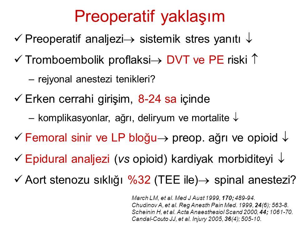 Preoperatif yaklaşım Preoperatif analjezi sistemik stres yanıtı 