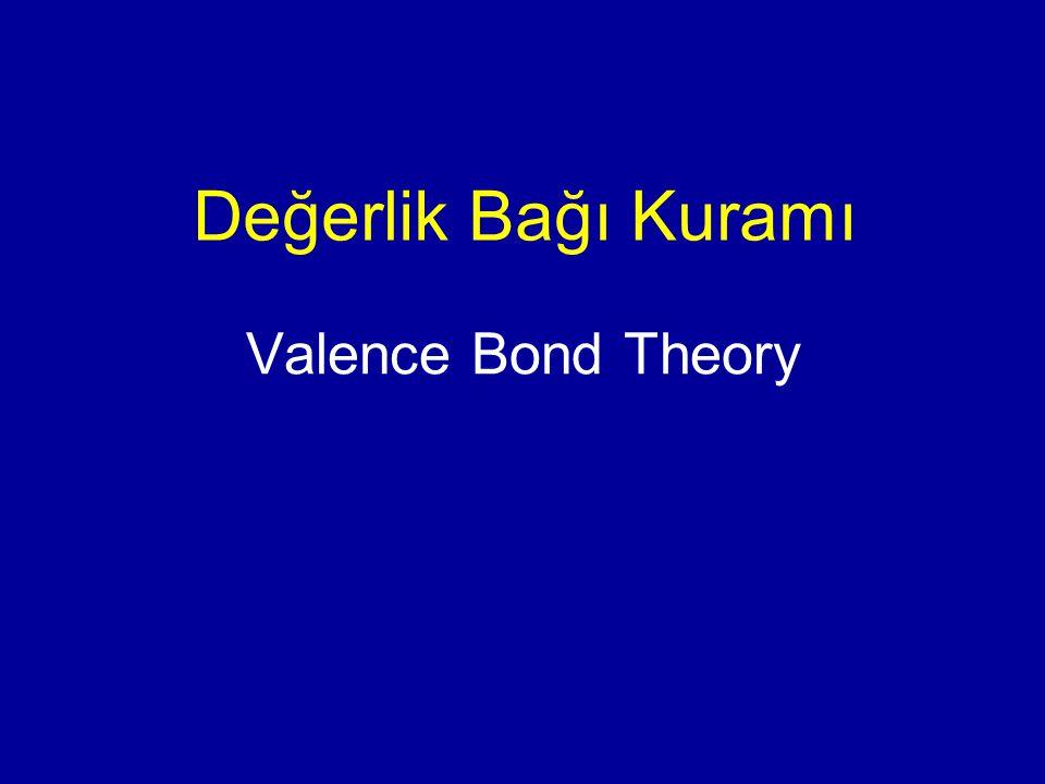 Değerlik Bağı Kuramı Valence Bond Theory