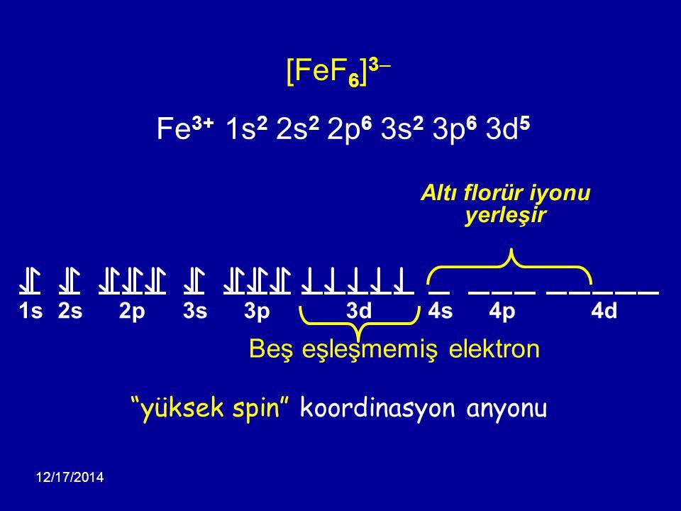 yüksek spin koordinasyon anyonu