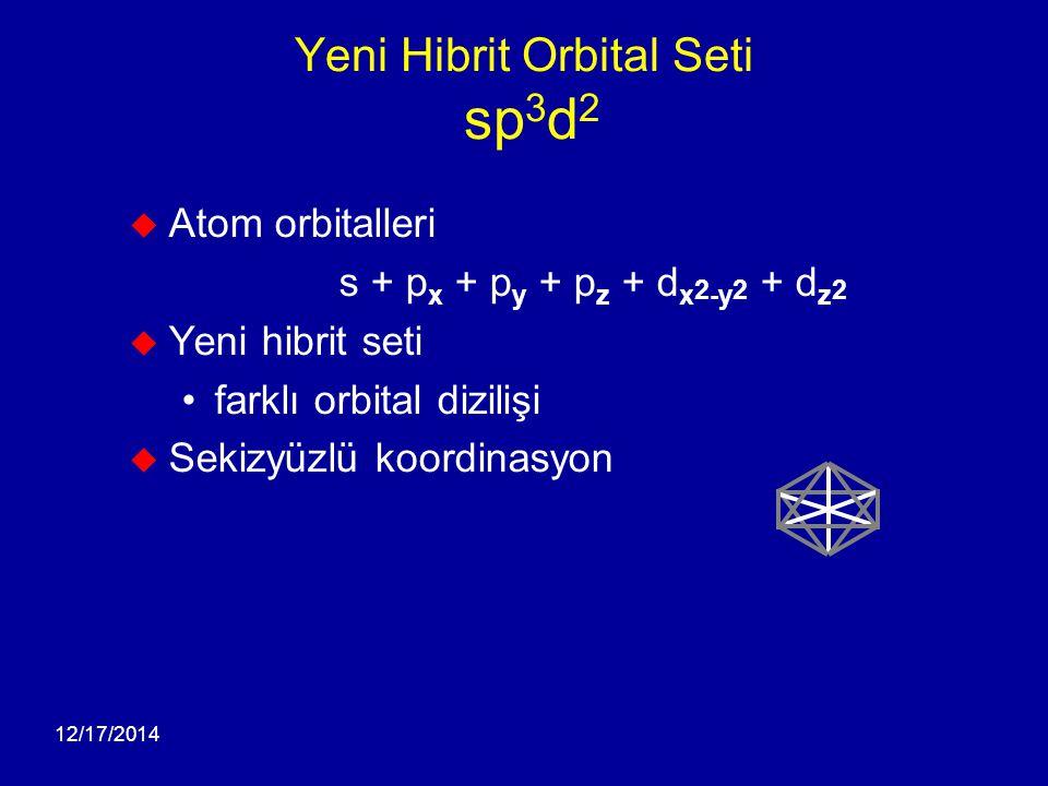 Yeni Hibrit Orbital Seti sp3d2