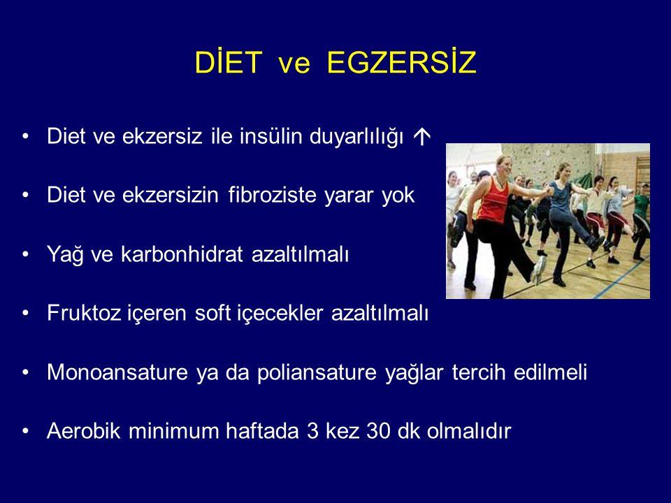 DİET ve EGZERSİZ Diet ve ekzersiz ile insülin duyarlılığı 