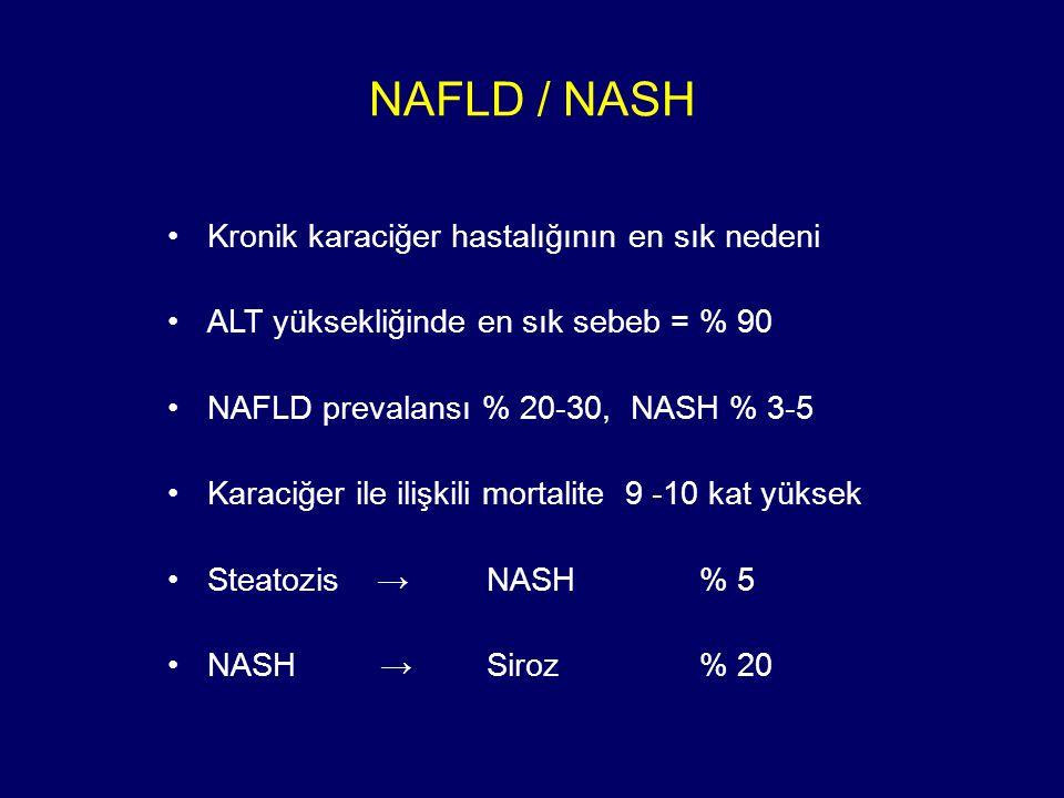 NAFLD / NASH Kronik karaciğer hastalığının en sık nedeni