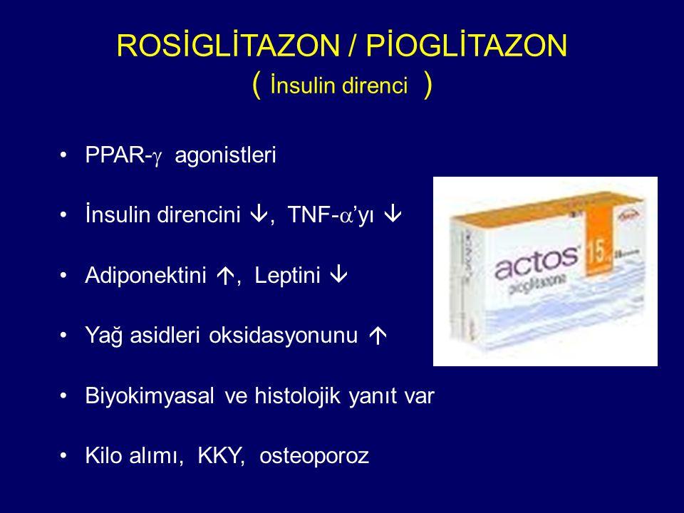 ROSİGLİTAZON / PİOGLİTAZON ( İnsulin direnci )