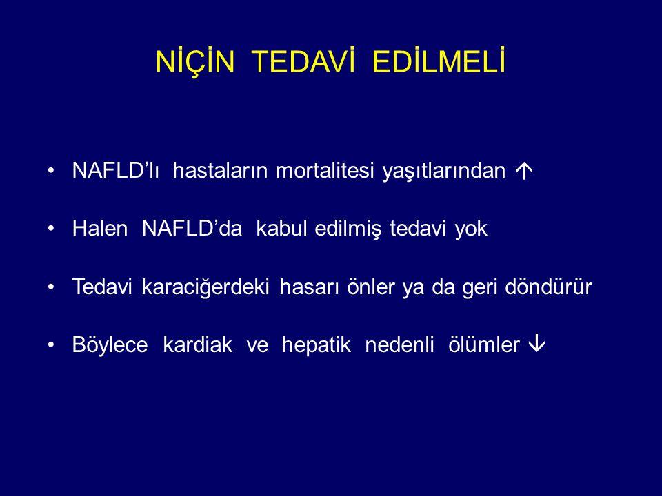 NİÇİN TEDAVİ EDİLMELİ NAFLD'lı hastaların mortalitesi yaşıtlarından 