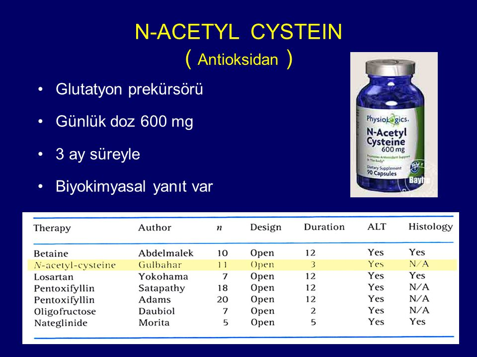 N-ACETYL CYSTEIN ( Antioksidan )