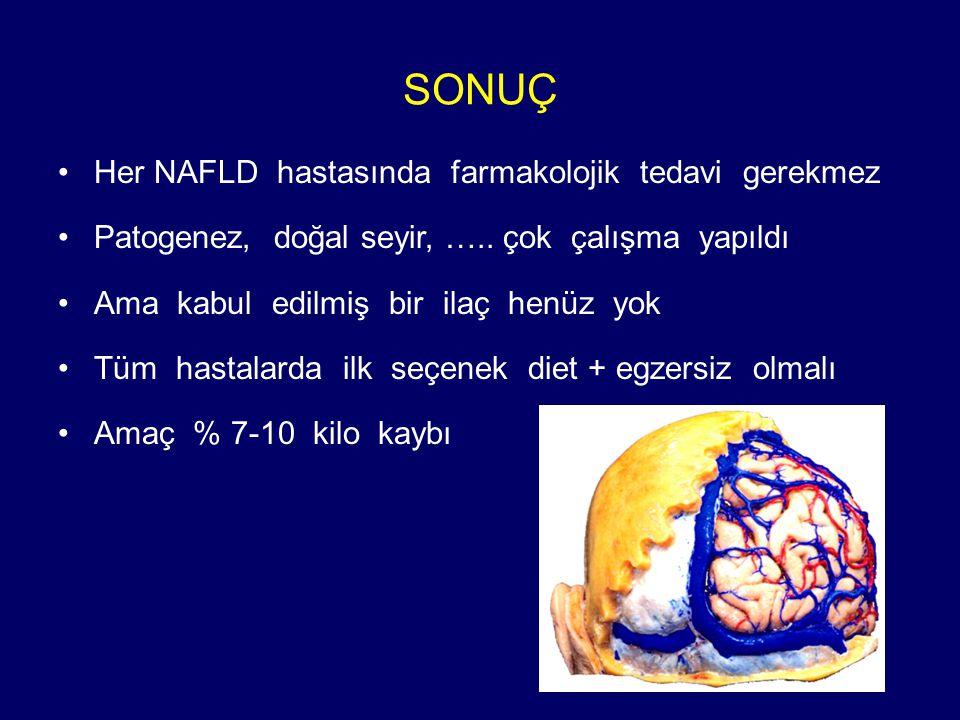 SONUÇ Her NAFLD hastasında farmakolojik tedavi gerekmez