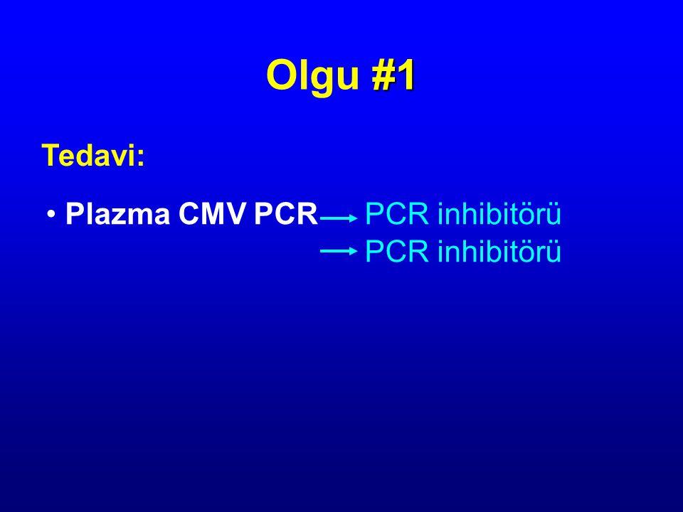 Olgu #1 Tedavi: Plazma CMV PCR PCR inhibitörü PCR inhibitörü
