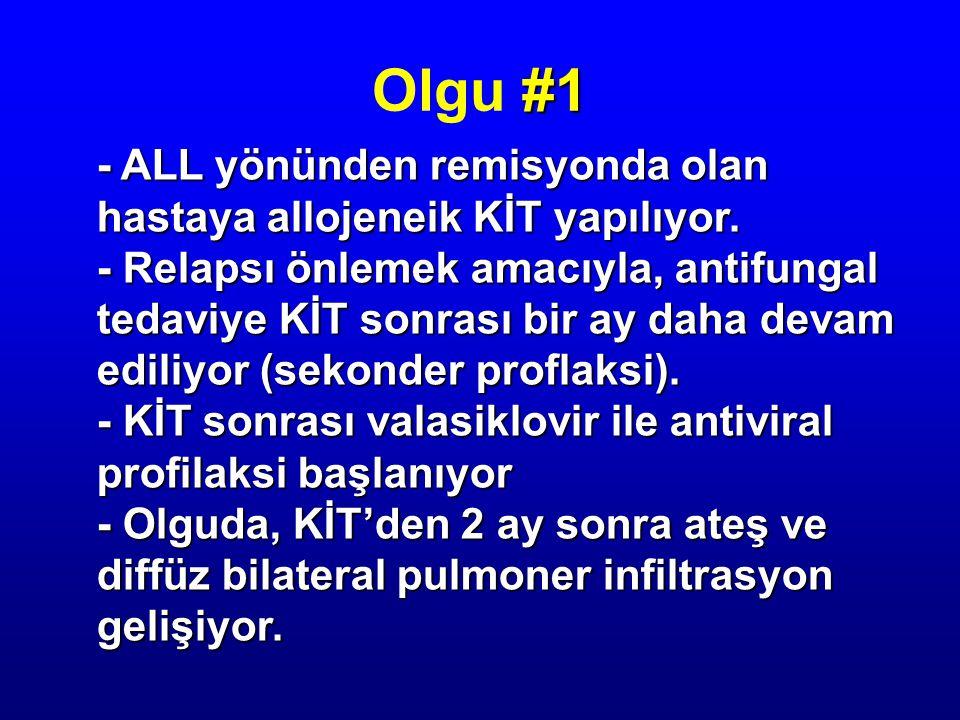 Olgu #1 - ALL yönünden remisyonda olan hastaya allojeneik KİT yapılıyor.