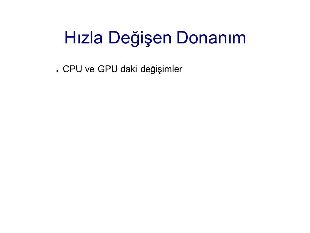 Hızla Değişen Donanım CPU ve GPU daki değişimler