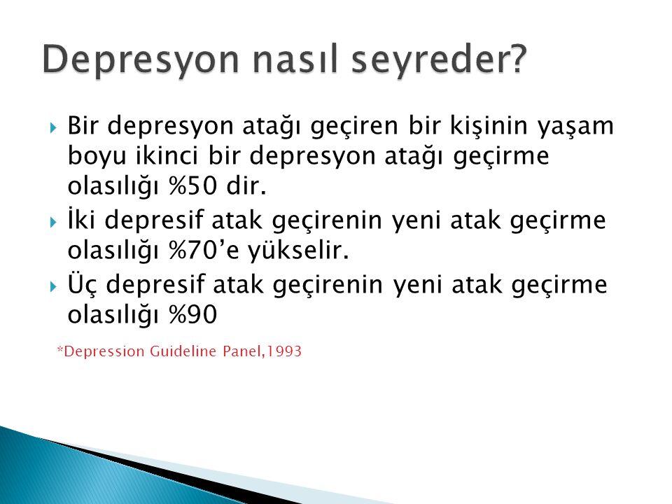 Depresyon nasıl seyreder