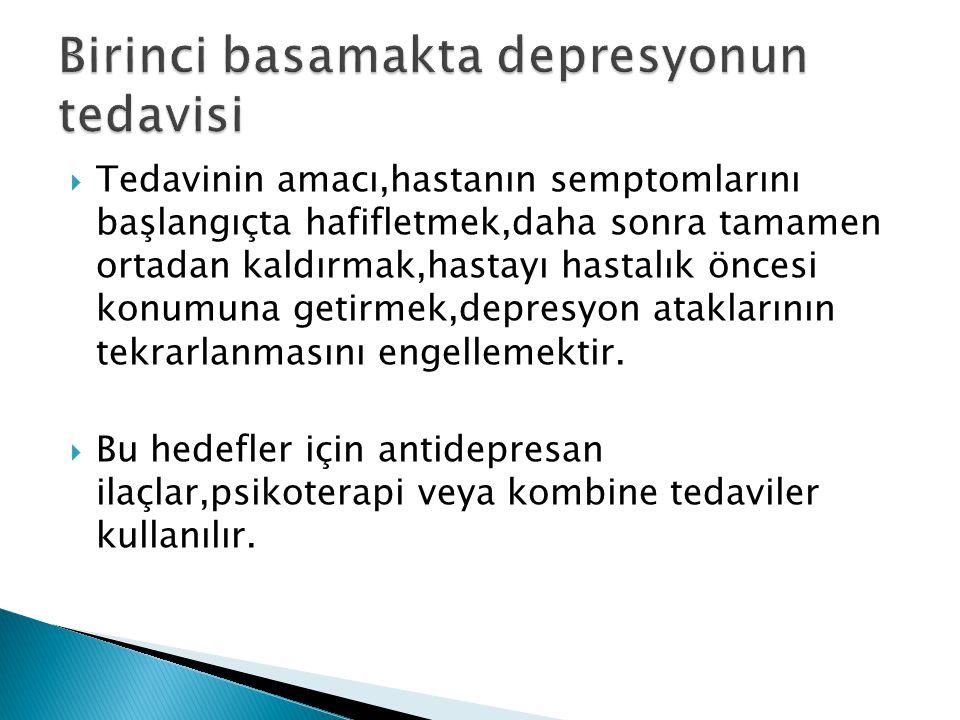 Birinci basamakta depresyonun tedavisi