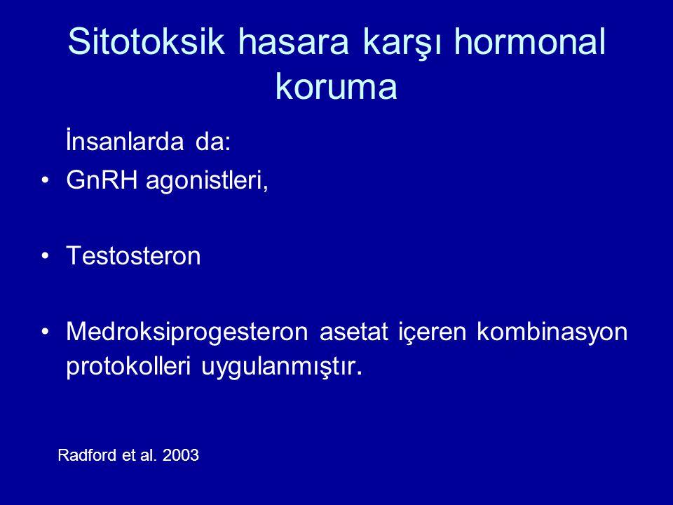 Sitotoksik hasara karşı hormonal koruma