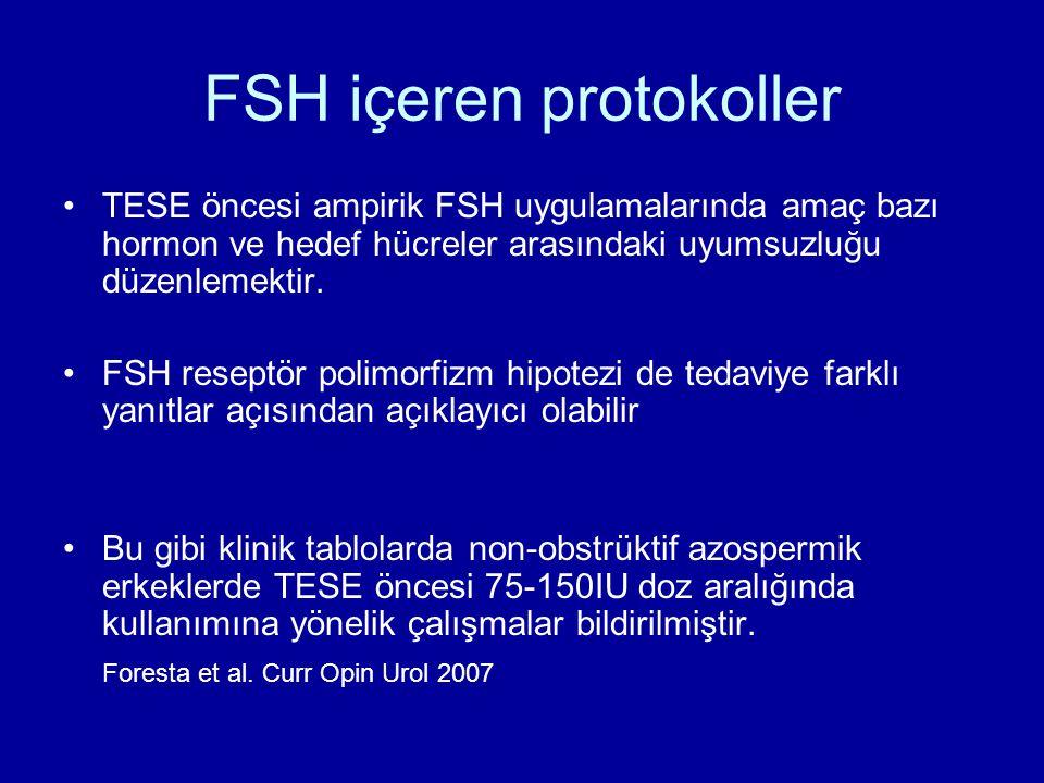 FSH içeren protokoller