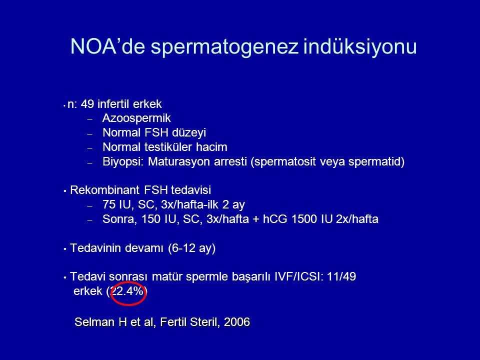 NOA'de spermatogenez indüksiyonu