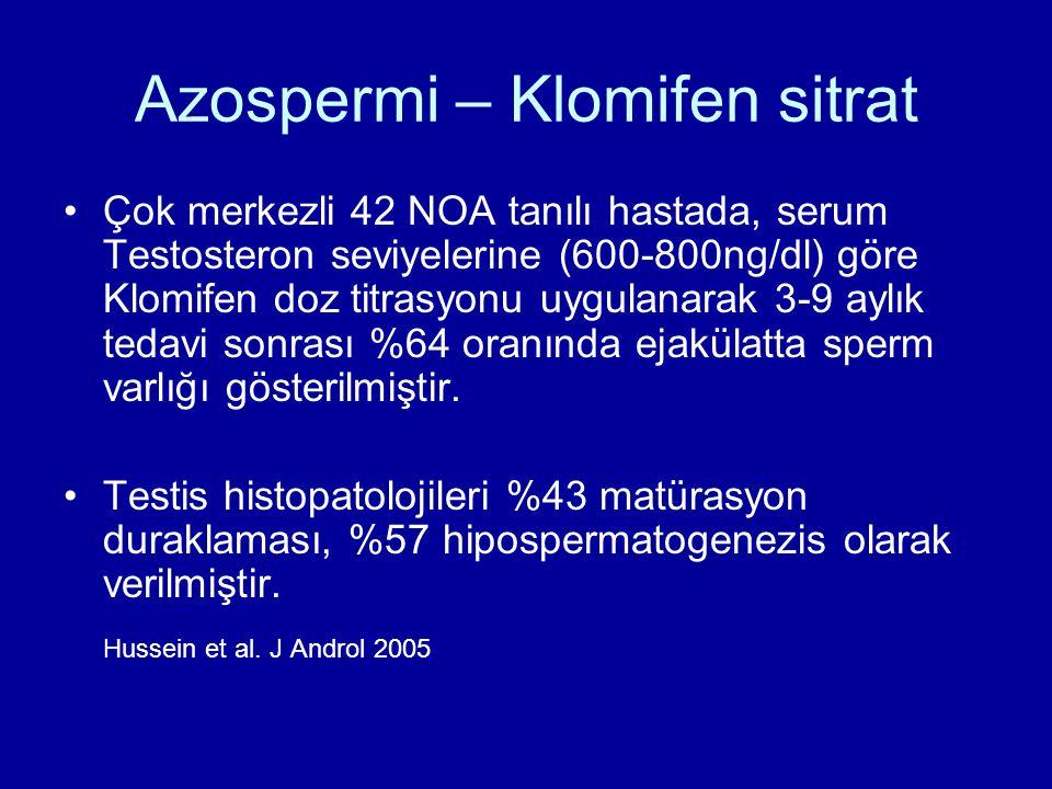 Azospermi – Klomifen sitrat