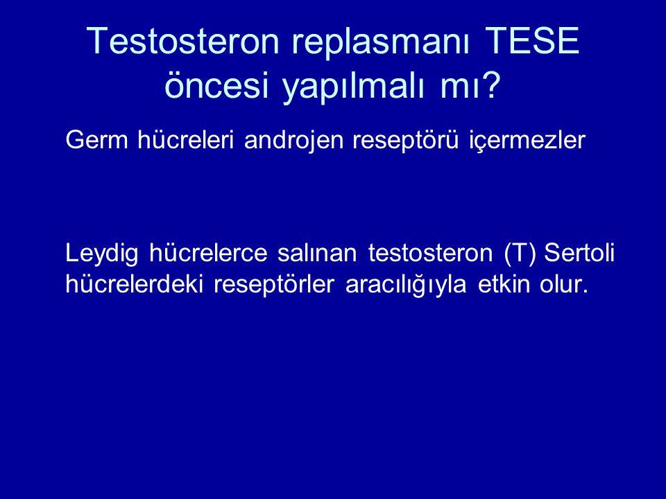 Testosteron replasmanı TESE öncesi yapılmalı mı