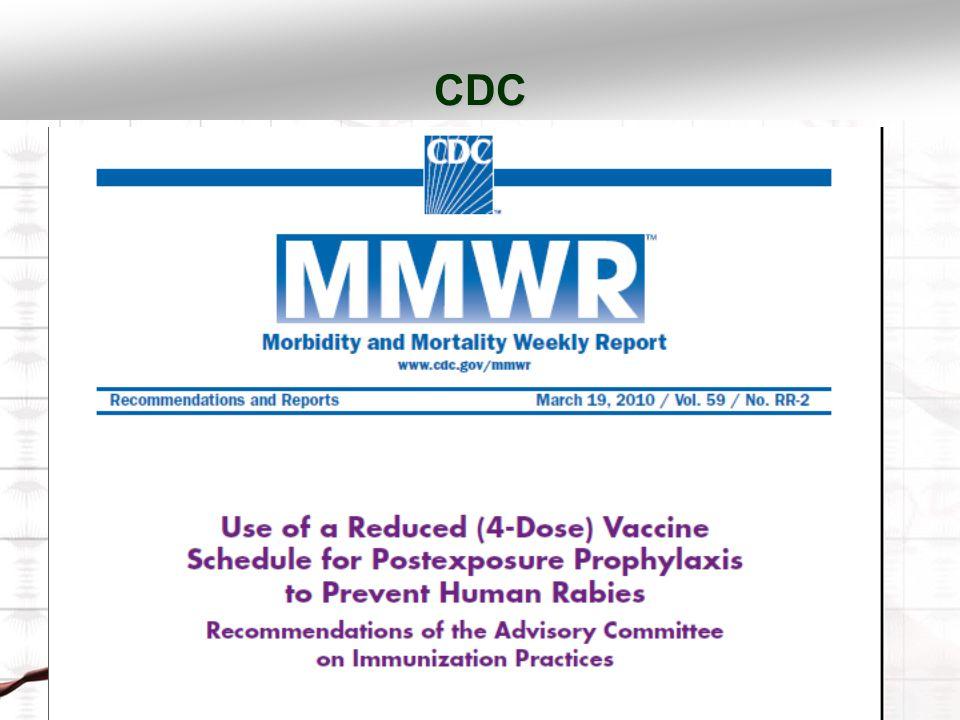 CDC 1 mL IM uygulama HDCV 1-1-1-1 PCECV 0.,3.,7., ve 14. günde