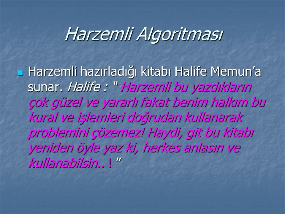 Harzemli Algoritması