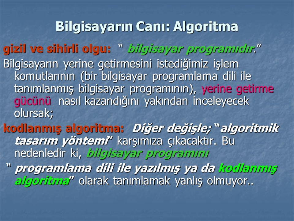 Bilgisayarın Canı: Algoritma