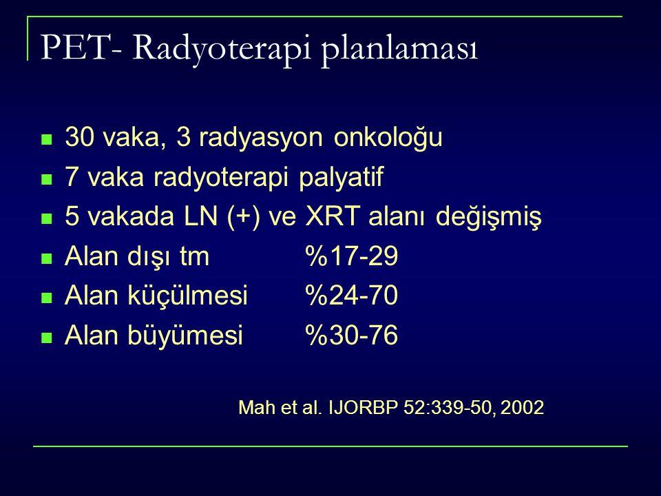 PET- Radyoterapi planlaması